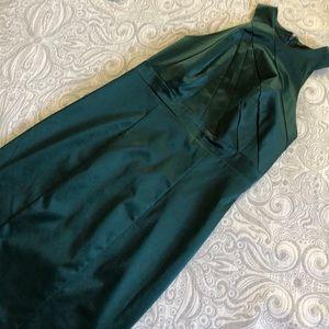Christmas green cocktail dress